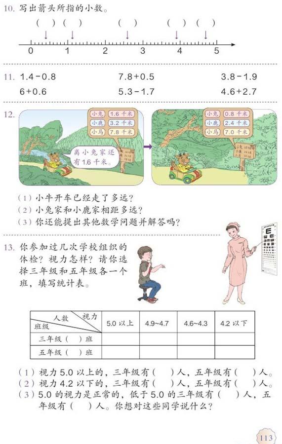 三 2015年人教版小学三年级数学下册课本图片