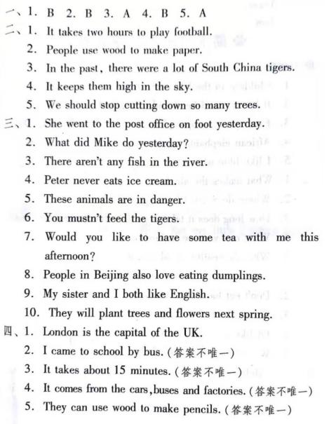 2021年人教版英语《句型专项》小学六年级上册期末复习题(附答案)