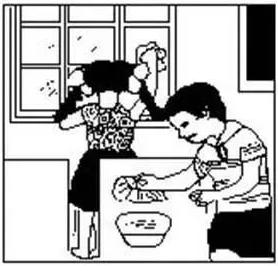 2021年部编版小学一年级语文《看图写话》上册期末训练题(附范文)