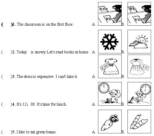 2021年人教PEP版小学四年�级英语下册《句子》期皇末复习题及答案