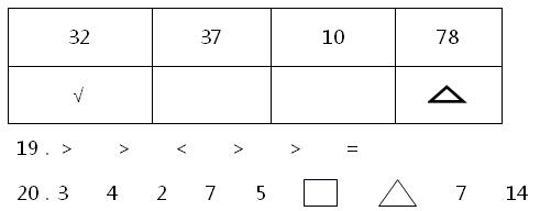 人教版一年级数学下册期末冲刺试卷及答案2021