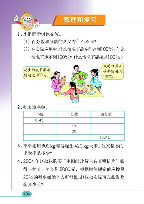 人教版六上数学课件_小学六年级数学上册用百分数解决问题_人教版小学课本
