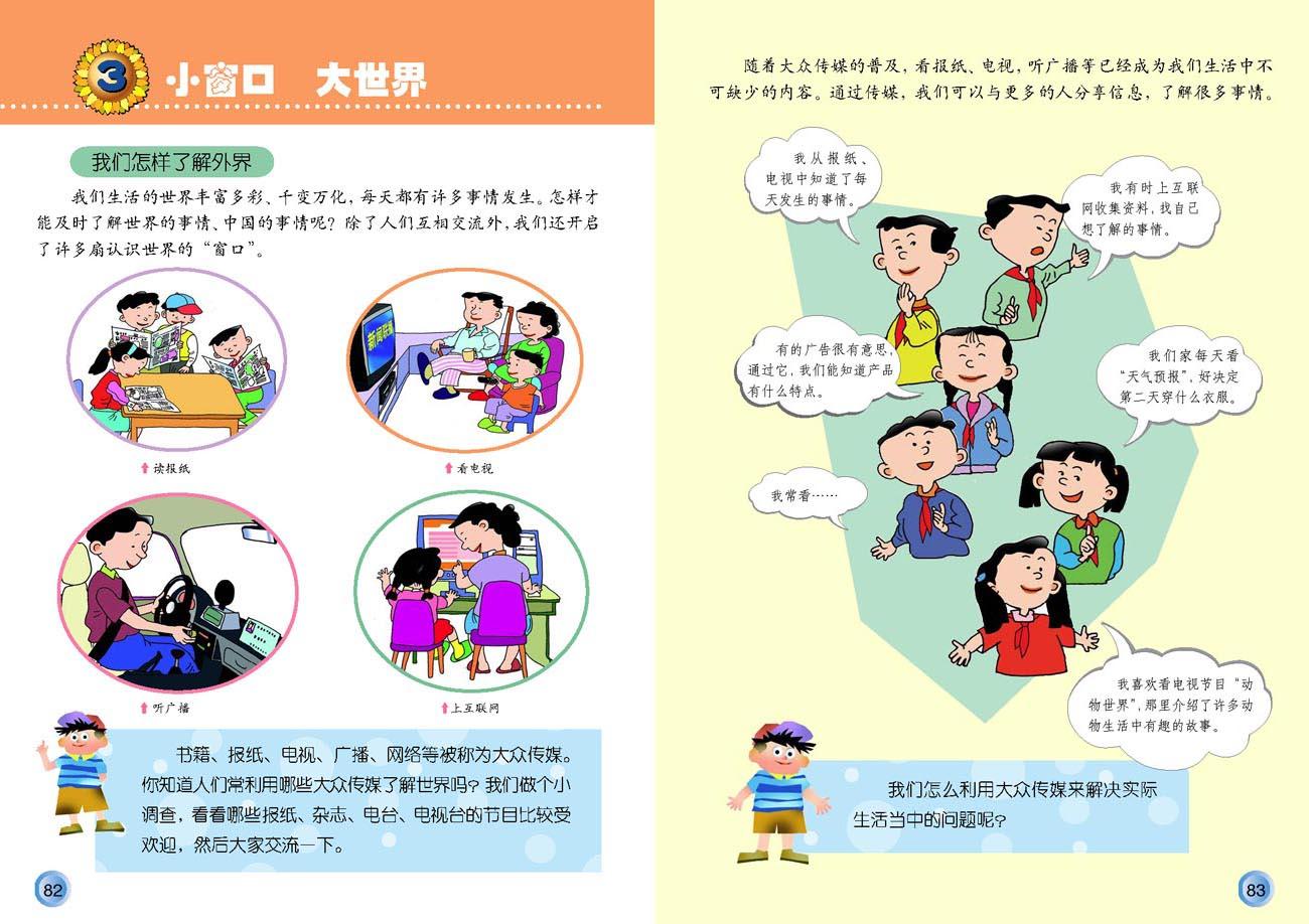 人教版四年级下册品德与社会复习资料图片